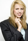 Happy blond businesswoman Stock Photography