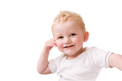 Happy blond child Stock Image