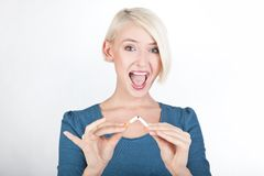 Happy blond lady Royalty Free Stock Image