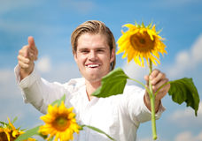 Happy blond man Royalty Free Stock Photos