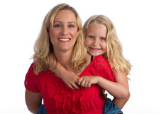 Happy blond mother and daughter Royalty Free Stock Photo