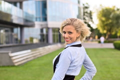 Happy blond woman. Royalty Free Stock Photography