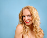 Happy Blonde Female Stock Images