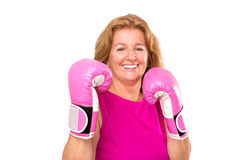 Happy Blonde Female Boxer Royalty Free Stock Images