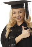 Happy blonde female graduate Stock Photo