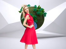 Happy blonde posing Royalty Free Stock Photography