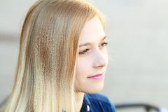 Happy blonde woman Royalty Free Stock Photo