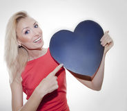 Happy blonde woman smiling. Royalty Free Stock Photos