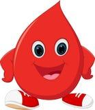 Happy Blood cartoon Royalty Free Stock Image