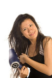 Happy blowdryer Stock Photo