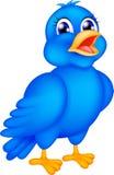 Happy blue bird. Illustration of happy blue bird Stock Photo