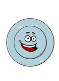 Happy blue plate with a laughing face Royalty Free Stock Image