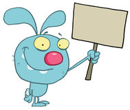Happy blue rabbit Royalty Free Stock Photo