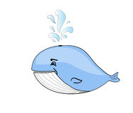 Happy blue whale cartoon Royalty Free Stock Images