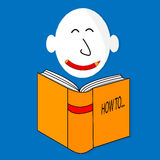 A happy book cartoon character vector illustration Royalty Free Stock Photo