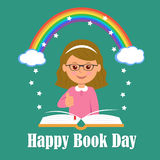 Happy Book Day. The concept of background magic of reading Royalty Free Stock Photography