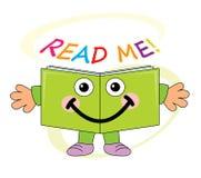 Happy Book Mascot - Read Me! Royalty Free Stock Photo