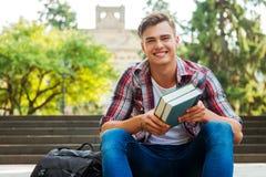 Happy bookworm. Stock Photography