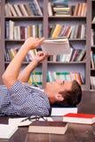 Happy bookworm. Royalty Free Stock Photos