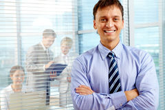 Happy boss Stock Photos