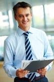Happy boss Stock Images