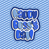 Happy Boss day. Quote vector blue tone color background illustration Stock Photos