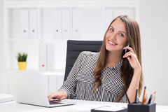 Happy boss's assistant Royalty Free Stock Photos