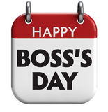 Happy Boss's Day. Boss's Day isolated calendar icon Royalty Free Stock Image
