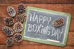 Happy Boxing Day blackboard sign royalty free stock photo