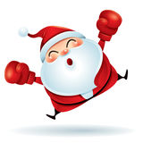 Happy Boxing Day. Santa Claus with red boxing glove. Stock Photo