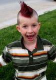 Happy boy. Punk rock Stock Photography
