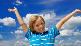 Happy boy. On sunny summer day Stock Photo