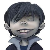 Happy Boy. With big teeth and black hair Royalty Free Stock Images