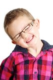 Happy Boy. Boy looking happy shot against a white background Stock Photography
