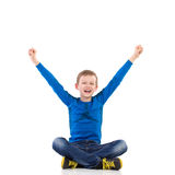Happy boy with arms outstretched Stock Photos