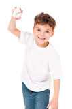 Boy with baseball ball Stock Photos