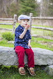 Happy boy blowing kisses Stock Photography