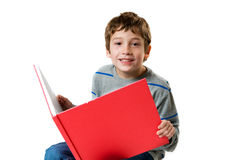 Happy boy with a book Royalty Free Stock Photos
