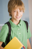 Happy boy with book Royalty Free Stock Image