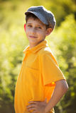 Happy boy in cap Royalty Free Stock Images