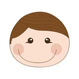 Happy boy cartoon icon image. Happy boy cartoon icon illustration design Royalty Free Stock Image