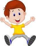 Happy boy cartoon Stock Photos