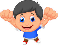 Happy boy cartoon Royalty Free Stock Photo