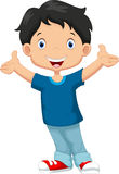Happy boy cartoon Stock Photography