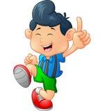 Happy boy cartoon Stock Images
