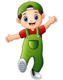 Happy boy cartoon. Illustration of Happy boy cartoon Royalty Free Stock Photo