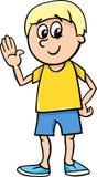 Happy boy cartoon Stock Photo