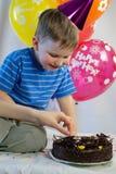 Happy boy celebrate birthday Royalty Free Stock Photography