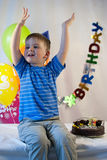 Happy boy celebrate birthday Royalty Free Stock Images