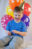 Happy boy celebrate birthday Stock Photo